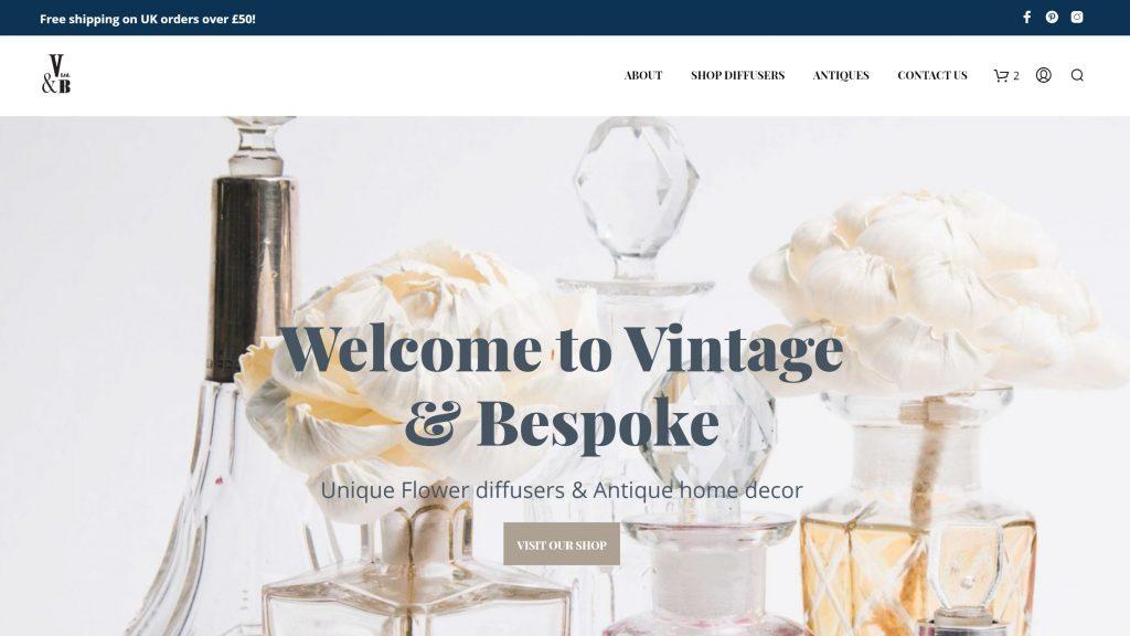 WooCommerce Store Homepage - Vintage & Bespoke Ltd